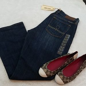 Lucky Brand 14/32 Sophia Ankle Blue Bootcut Jeans
